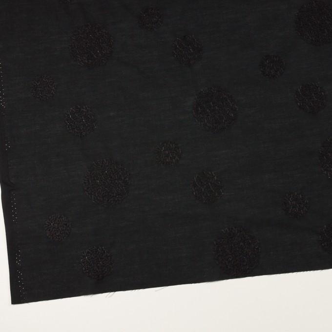 コットン×サークル(ブラック)×ローン刺繍_全4色 イメージ2