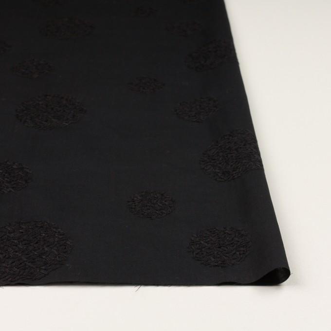 コットン×サークル(ブラック)×ローン刺繍_全4色 イメージ3