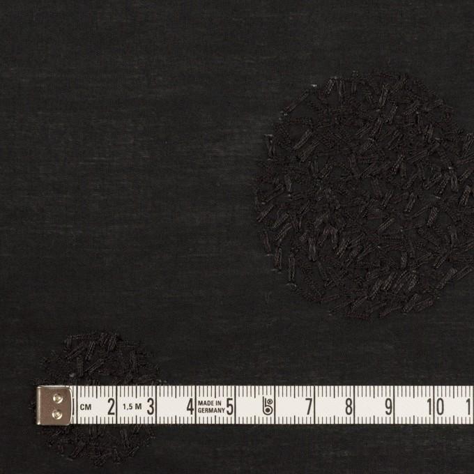 コットン×サークル(ブラック)×ローン刺繍_全4色 イメージ4