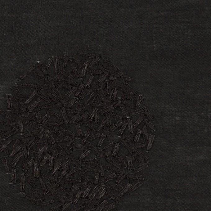 コットン×サークル(ブラック)×ローン刺繍_全4色 イメージ1