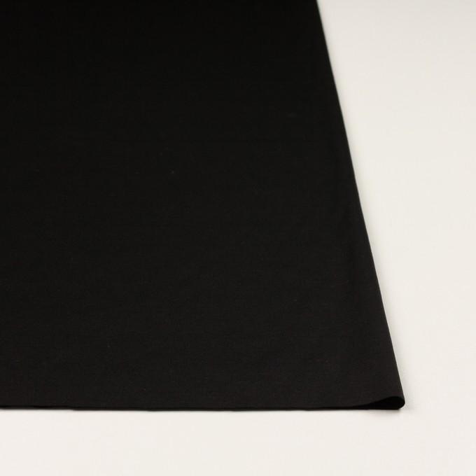 コットン&モダール×無地(ブラック)×スムースニット_全2色 イメージ3