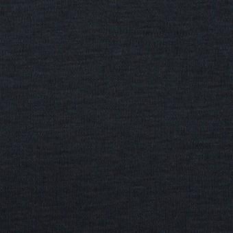 コットン&モダール×無地(ダークネイビー)×スムースニット