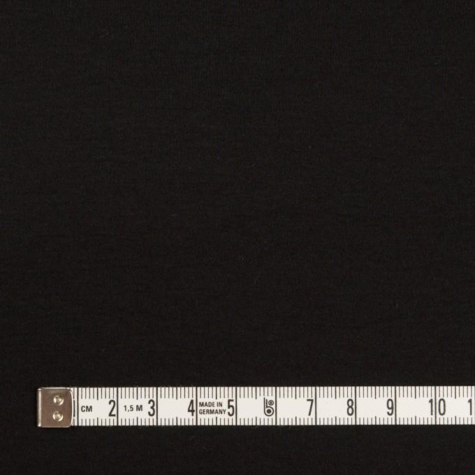 コットン×無地(ブラック)×スムースニット イメージ4