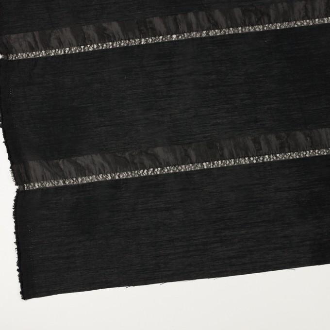 ナイロン×ボーダー(ブラック)×オーガンジージャガード イメージ2