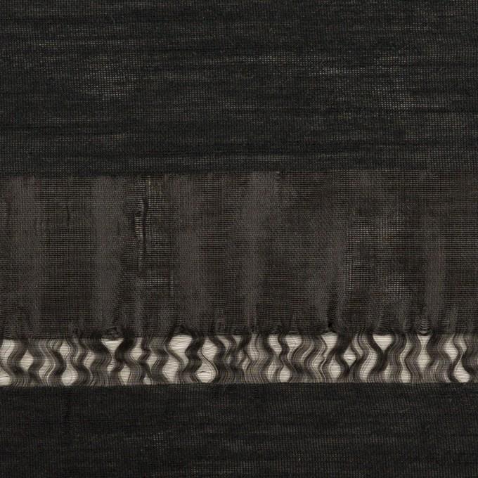 ナイロン×ボーダー(ブラック)×オーガンジージャガード イメージ1