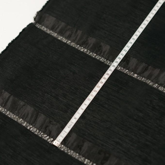ナイロン×ボーダー(ブラック)×オーガンジージャガード イメージ6
