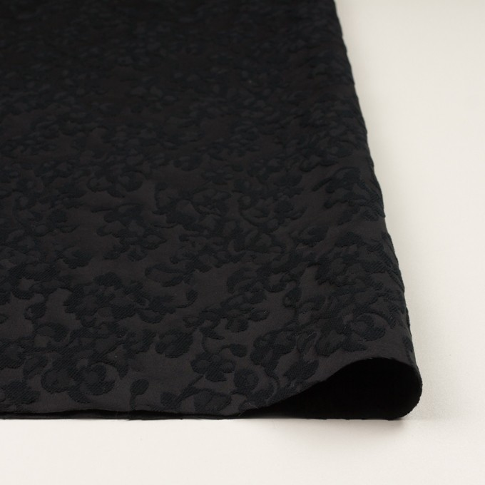 コットン&ポリエステル×フラワー(ブラック)×ジャガード イメージ3