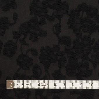 コットン&ポリエステル×フラワー(ブラック)×ジャガード サムネイル4
