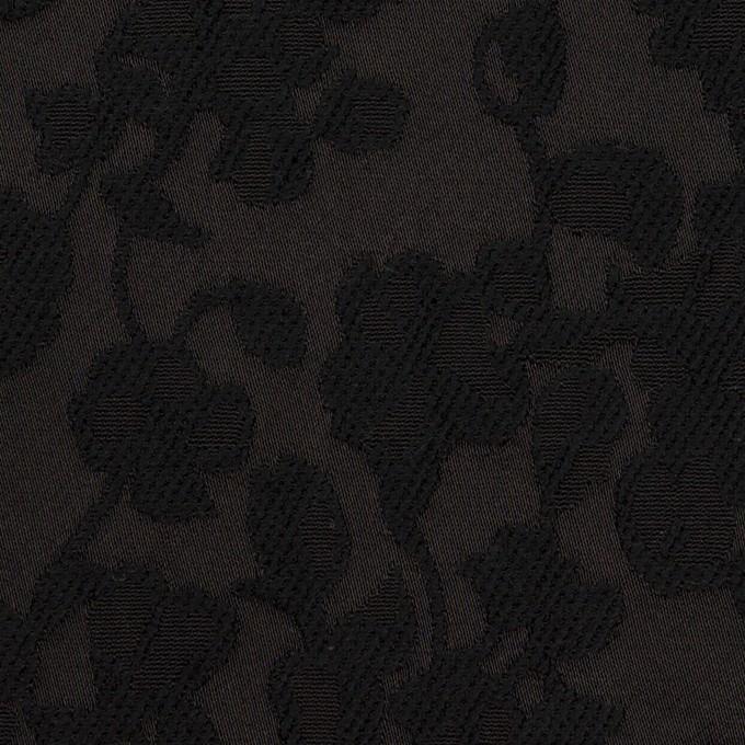 コットン&ポリエステル×フラワー(ブラック)×ジャガード イメージ1