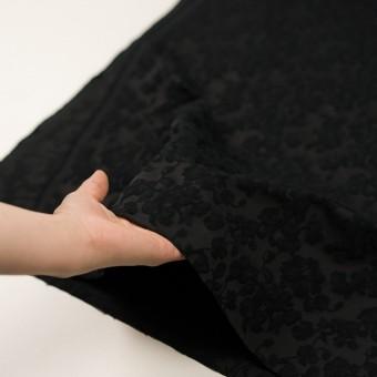コットン&ポリエステル×フラワー(ブラック)×ジャガード サムネイル5