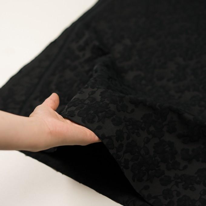 コットン&ポリエステル×フラワー(ブラック)×ジャガード イメージ5