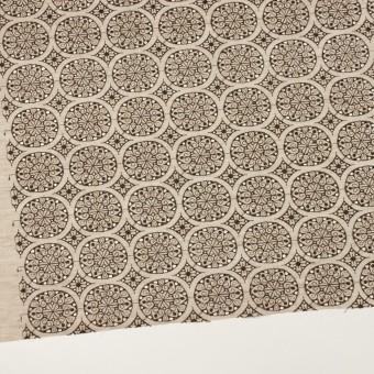 コットン×フラワー(ベージュ&ブラウン)×シャンブレー刺繍_全2色 サムネイル2
