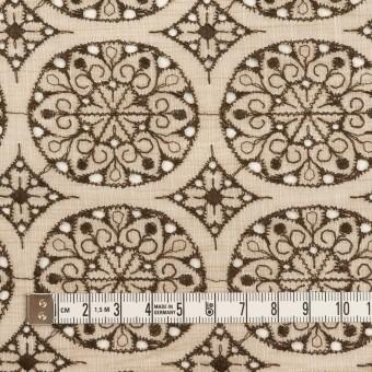 コットン×フラワー(ベージュ&ブラウン)×シャンブレー刺繍_全2色 サムネイル4