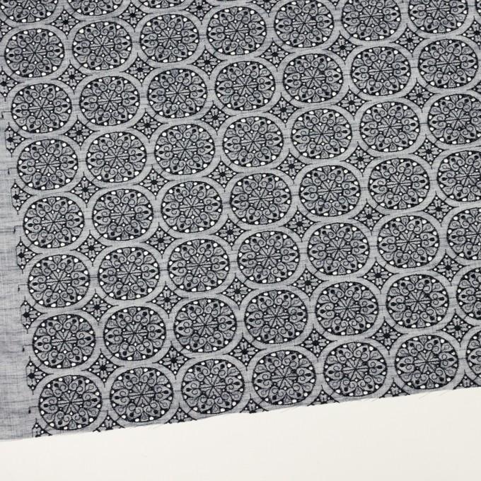 コットン×フラワー(ネイビー&ネイビー)×シャンブレー刺繍_全2色 イメージ2