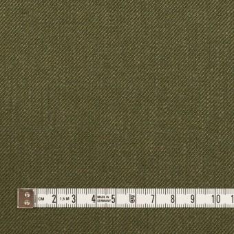 リネン&コットン×無地(カーキグリーン)×サージ_全2色 サムネイル4