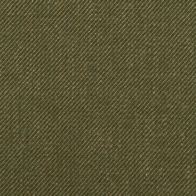 リネン&コットン×無地(カーキグリーン)×サージ_全2色 イメージ1