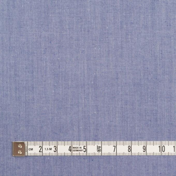コットン×無地(ブルー)×シャンブレー・ローン イメージ4