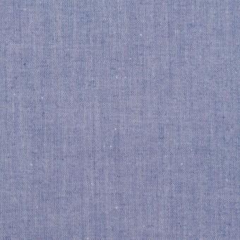 コットン×無地(ブルー)×シャンブレー・ローン