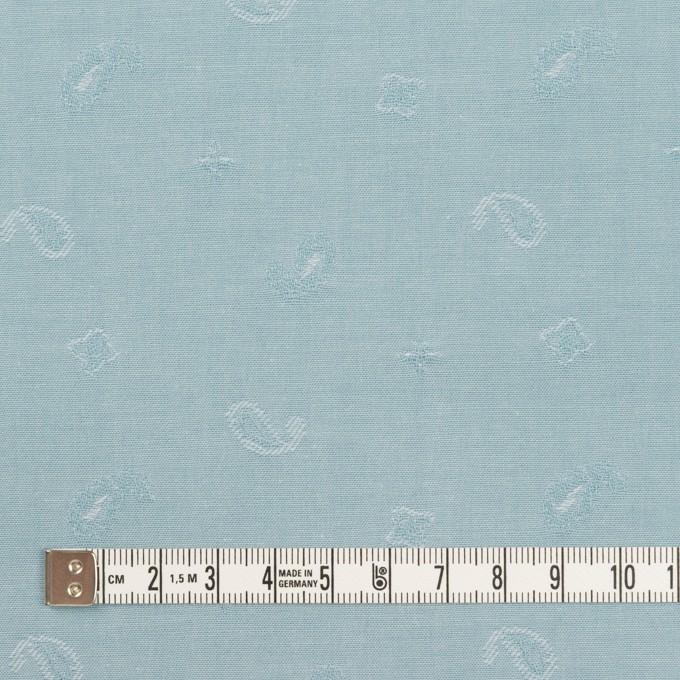 コットン×ペイズリー(スモーキーアイスブルー)×ブロードジャガード イメージ4