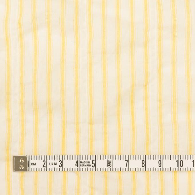 コットン&ポリウレタン×ストライプ(イエロー)×ボイルシャーリング_全2色 イメージ4
