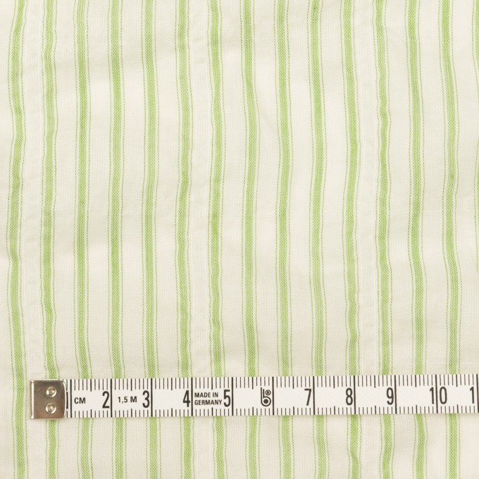 コットン&ポリウレタン×ストライプ(グリーン)×ボイルシャーリング_全2色 イメージ4