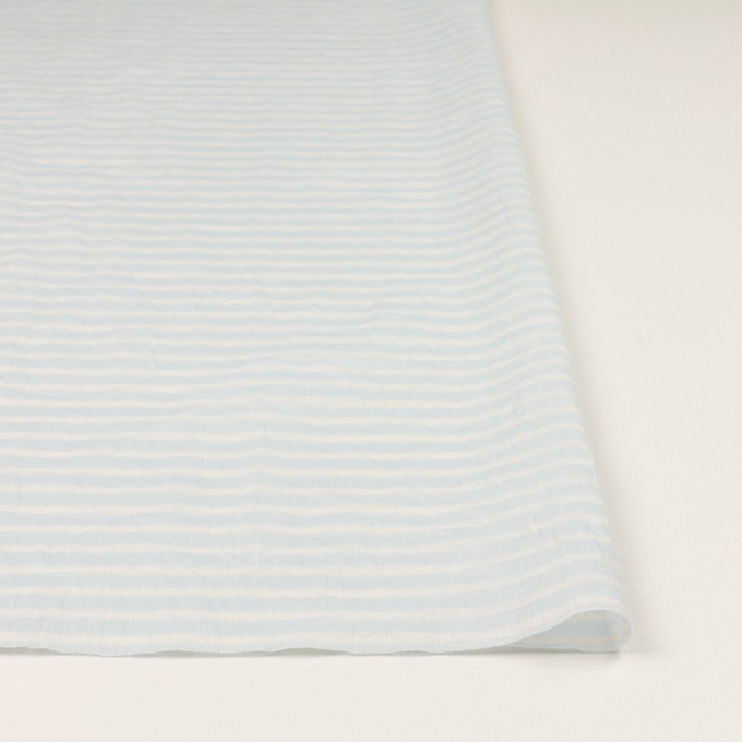 コットン×ボーダー(サックス)×ボイルワッシャー イメージ3