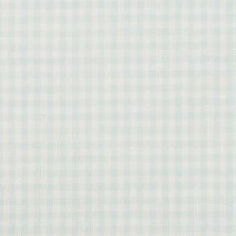 コットン×チェック(サックス)×Wガーゼ サムネイル1