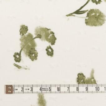コットン×フラワー(カーキグリーン)×ボイルカットジャガード_全2色 サムネイル4