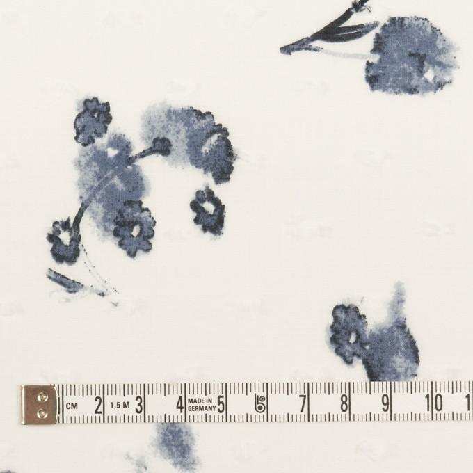 コットン×フラワー(ブルーグレー)×ボイルカットジャガード_全2色 イメージ4