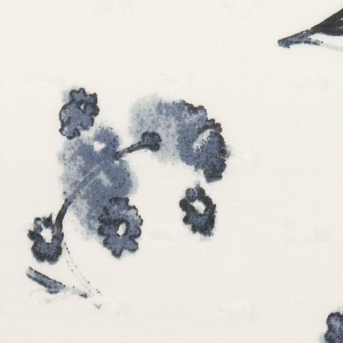 コットン×フラワー(ブルーグレー)×ボイルカットジャガード_全2色 イメージ1