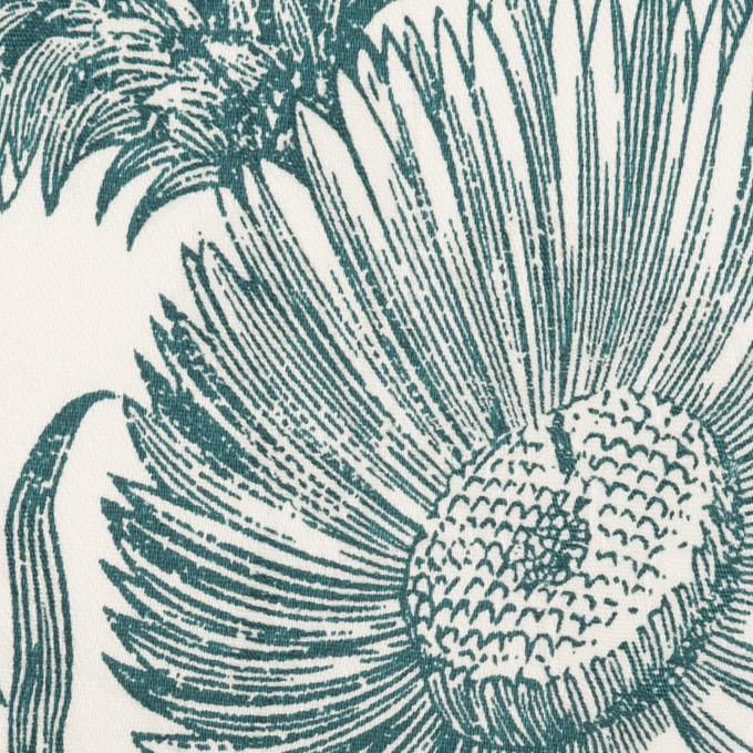 コットン&ポリウレタン×フラワー(スレートグレー)×ジャガード・ストレッチ イメージ1