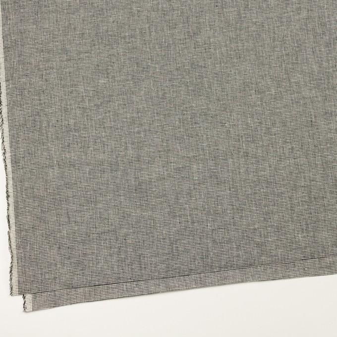 リネン&コットン×チェック(キナリ&ブラック)×千鳥格子 イメージ2