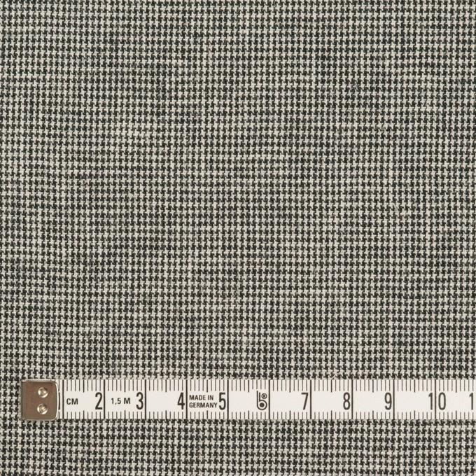 リネン&コットン×チェック(キナリ&ブラック)×千鳥格子 イメージ4