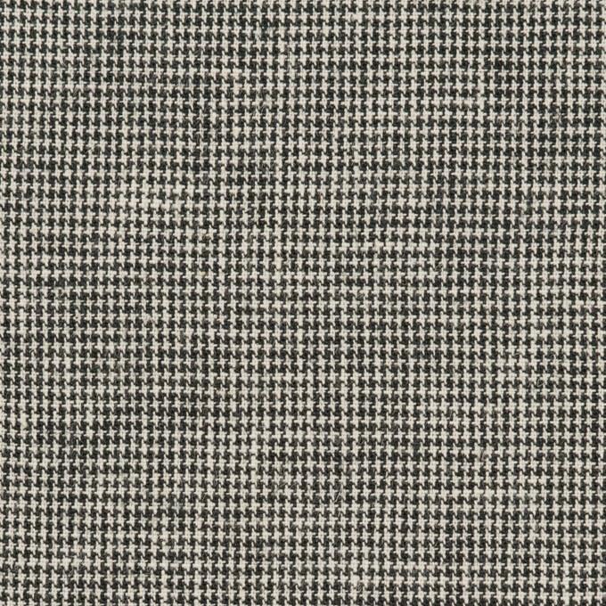 リネン&コットン×チェック(キナリ&ブラック)×千鳥格子 イメージ1