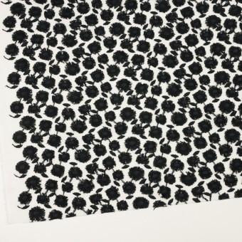 コットン×フラワー(ブラック&ホワイト)×ボイル刺繍 サムネイル2