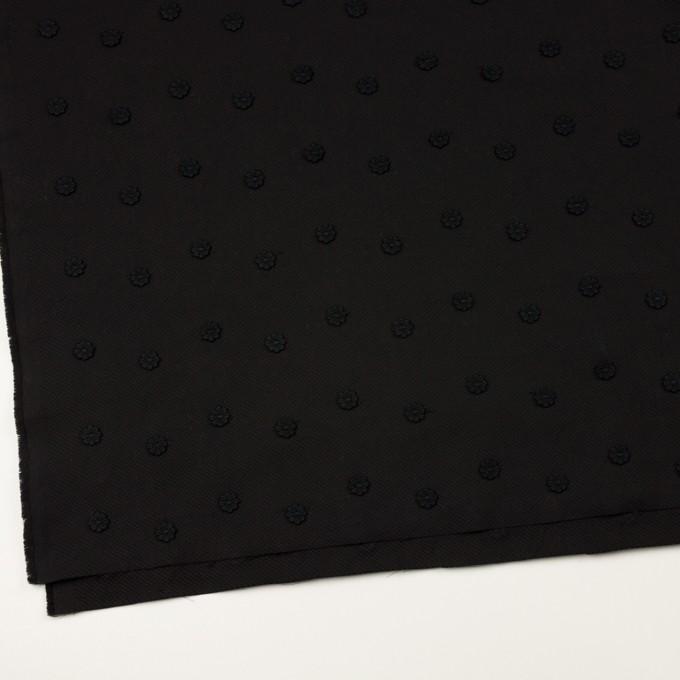コットン×フラワー(ブラック)×アートピケ・モチーフレース イメージ2
