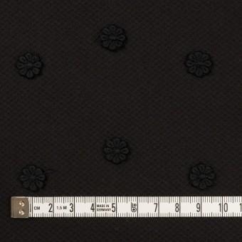 コットン×フラワー(ブラック)×アートピケ・モチーフレース サムネイル4