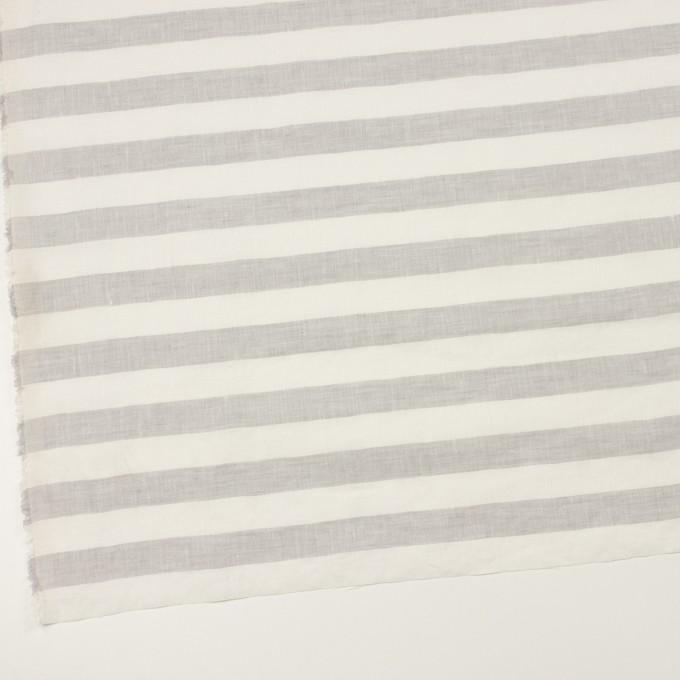 リネン×ボーダー(パールグレー)×薄キャンバス イメージ2