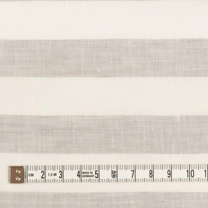 リネン×ボーダー(パールグレー)×薄キャンバス イメージ4