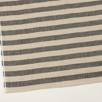 リネン×ボーダー(グレイッシュベージュ&ブラック)×薄キャンバス サムネイル2