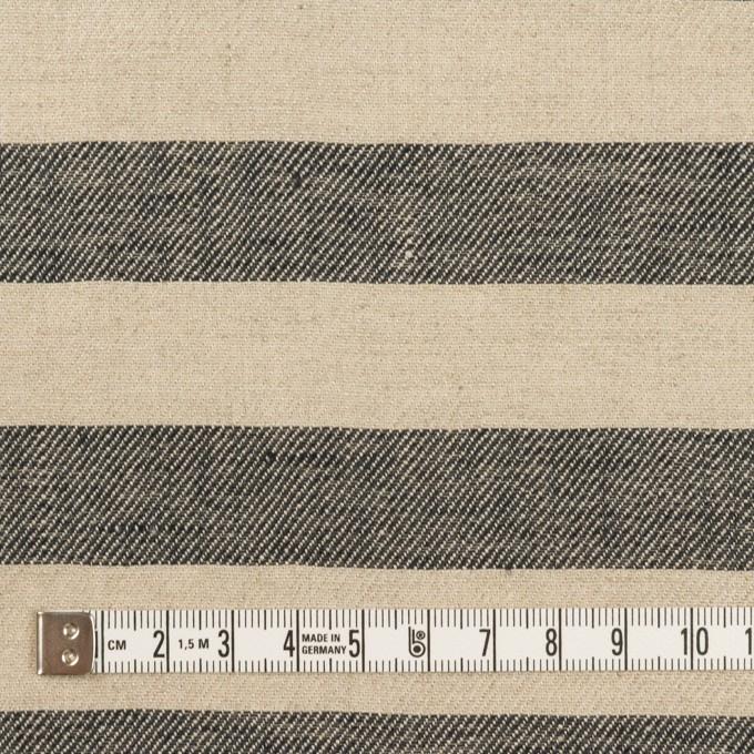 リネン×ボーダー(グレイッシュベージュ&ブラック)×薄キャンバス イメージ4
