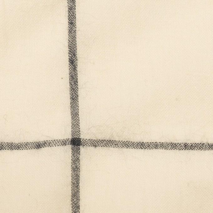 コットン×チェック(キナリ&ダークネイビー)×ガーゼ イメージ1