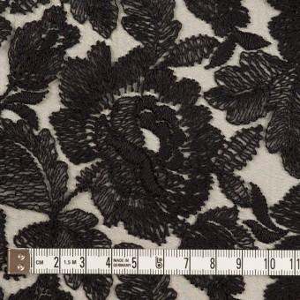 ナイロン×フラワー(ブラック)×オーガンジー刺繍_全2色 サムネイル4