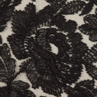 ナイロン×フラワー(ブラック)×オーガンジー刺繍_全2色