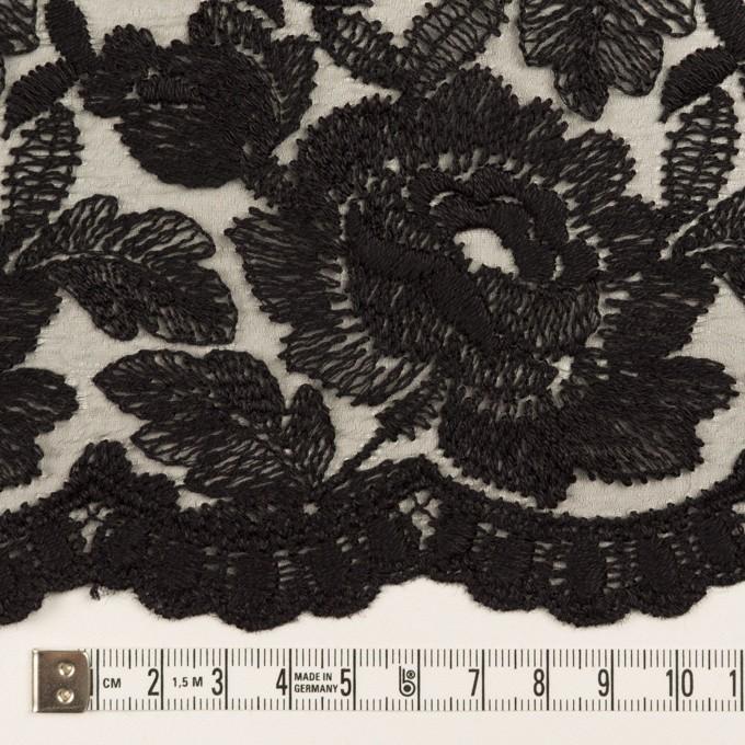 ナイロン×フラワー(ブラック)×オーガンジー刺繍_全2色 イメージ6