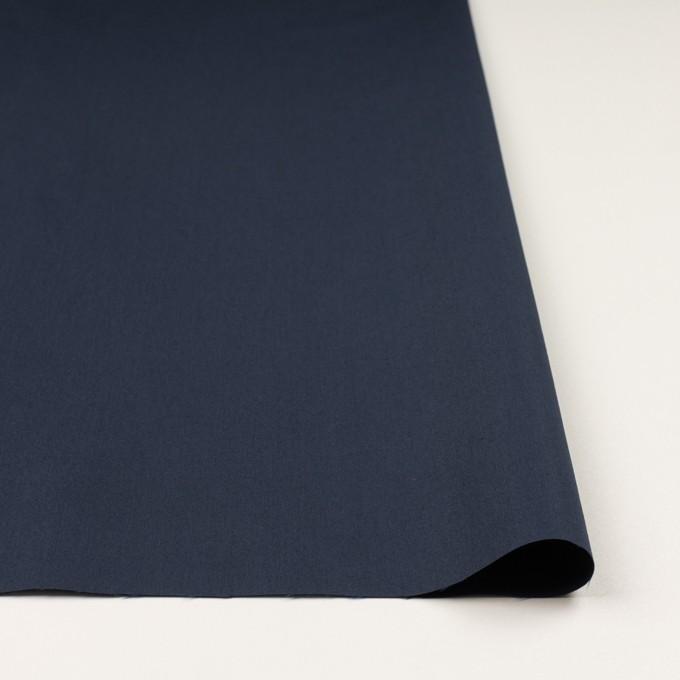 コットン&ポリアミド×無地(ミッドナイトブルー)×高密ブロード_イタリア製 イメージ3