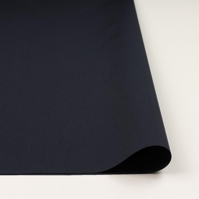 コットン&ナイロン×無地(ダークネイビー)×高密ブロード イメージ3