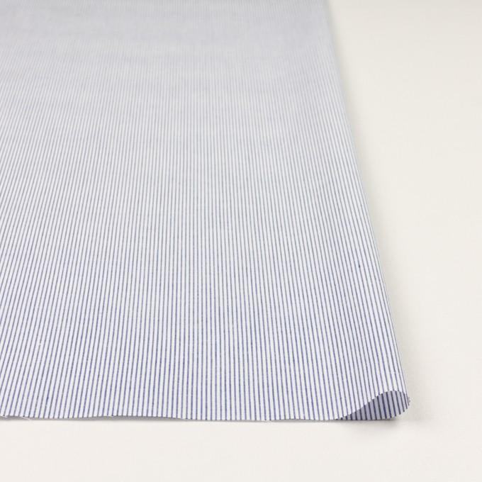 コットン&リネン×ストライプ(ブルー)×ブロード イメージ3