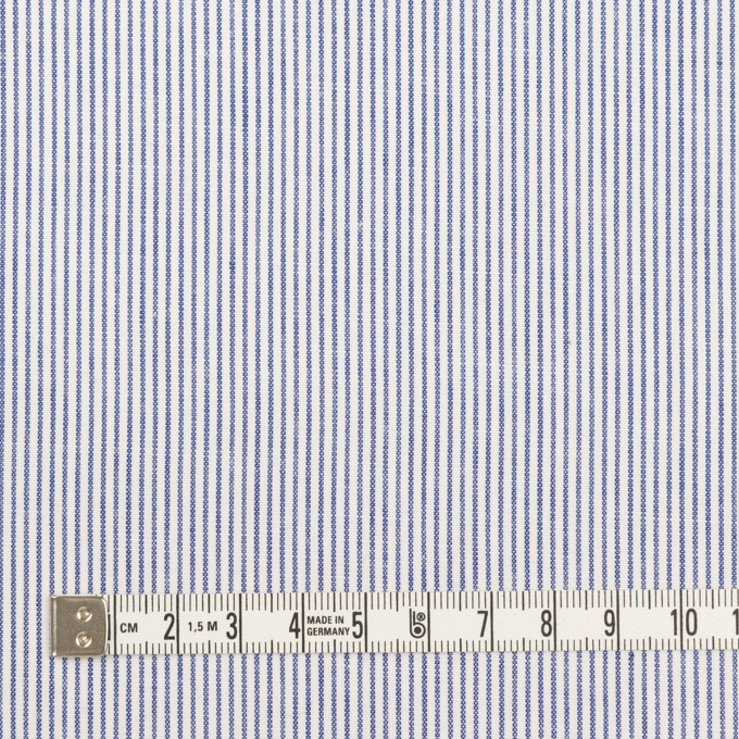 コットン&リネン×ストライプ(ブルー)×ブロード イメージ4