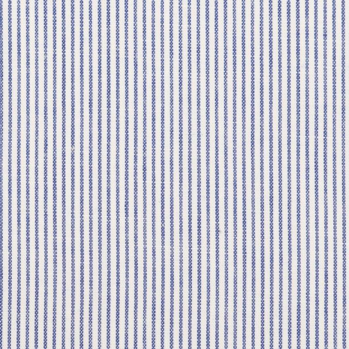 コットン&リネン×ストライプ(ブルー)×ブロード イメージ1